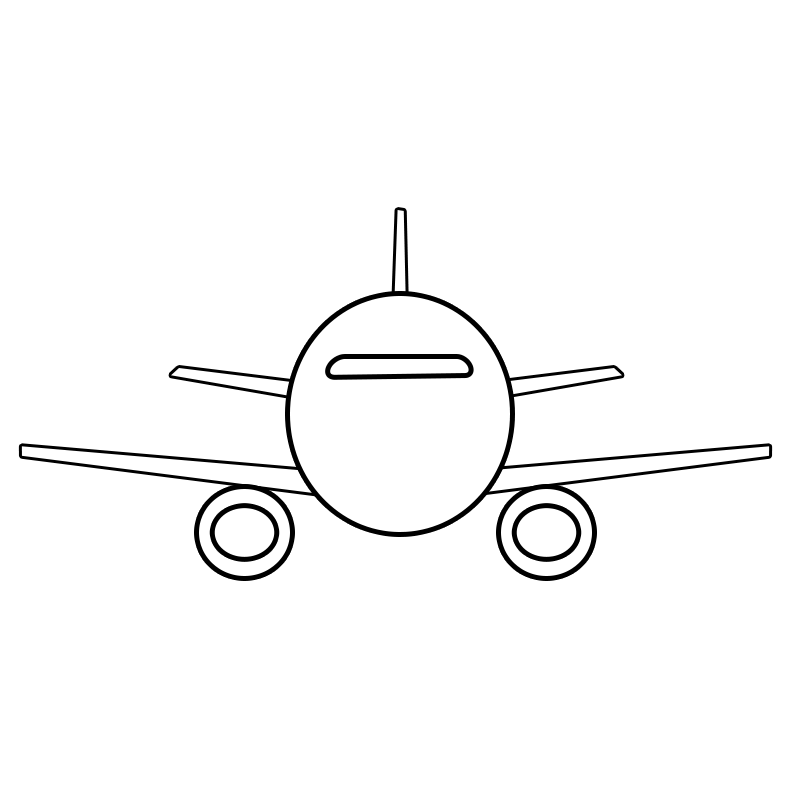 Vector image of plane flying